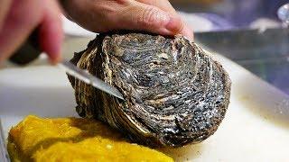 Japanese Street Food - $20 GIANT OYSTER Seafood Steak Teppanyaki Japan