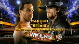 Undertaker vs Shawn Michaels Wrestlemania 26 Official Promo