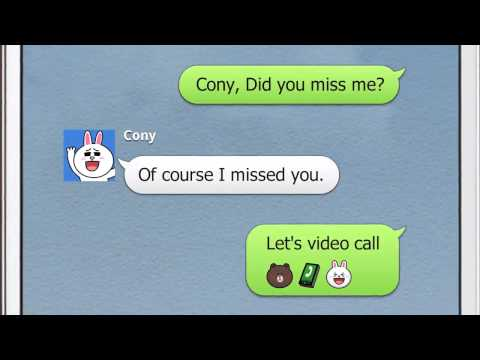 LINE Free Video Call I miss you New Ad 2014 HD OFFICAL