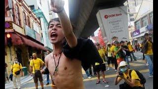 Ratusan Ribu Rakyat Malaysia Demo Gulingkan Perdana Mentri Malaysia Najib Razak