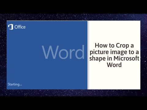 How to Crop a picture image to a shape in Microsoft Word