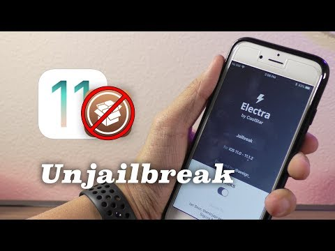 How to Unjailbreak Electra iOS 11.1.2 & Remove Cydia!