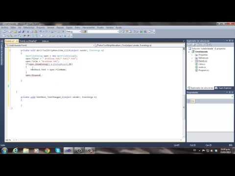 Openfiledialog en c# (implementacion)