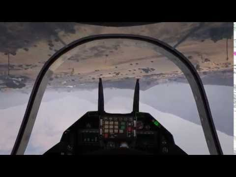 Flying a jet