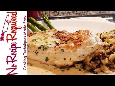 Chicken Breast with Mustard Cream Sauce - NoRecipeRequired.com