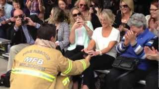 MFB firefighter surprise proposal (Recruit Course 107)