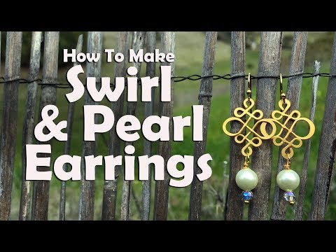 How To Make Swirl & Pearl Earrings: Jewelry Making Tutorial