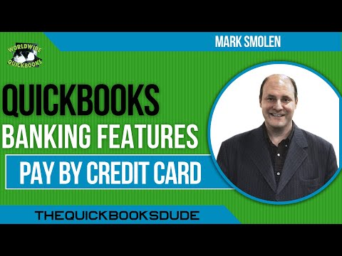 Learn QuickBooks video  8 - PAYING BY CREDIT CARD