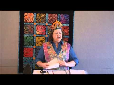 Diane-Queen of Stained Glass quilts shows how to make 'Dianes Garden'.wmv