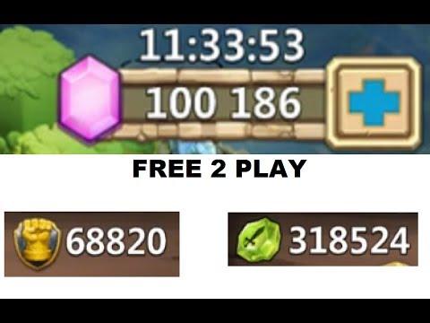 Rolling 100,000 FREE 2 PLAY Gems YEAR WORTH SAVING! Castle Clash