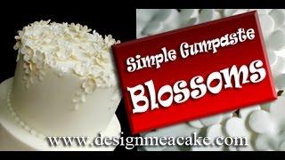 How To Make Easy Flower Blossoms In Gumpaste