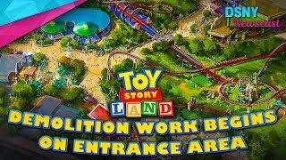 Demolition Begins On Toy Story Land Entrance at Walt Disney World - Disney News - 8/6/17