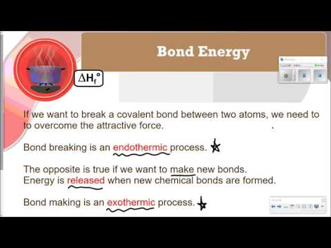 Thermochemistry Video 6 - Heat of Formation and Bond Energies