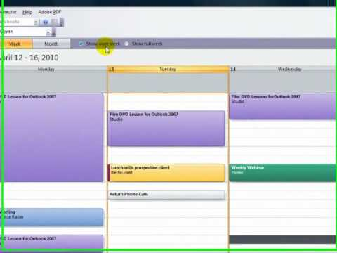 Working With Calendars in Outlook 2007
