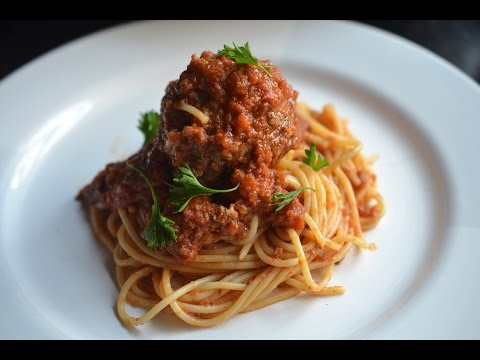 Cheese Stuffed spaghetti and Meatballs
