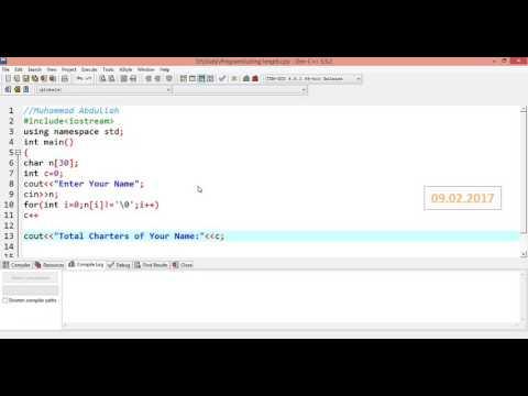 How to find String Length in C++ in urdu/hindi