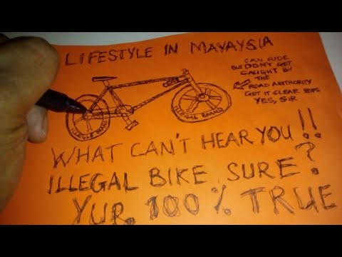Malaysia Lifestyle. Bicycle which is illegal to ride on the road. Just a great surprise for me.