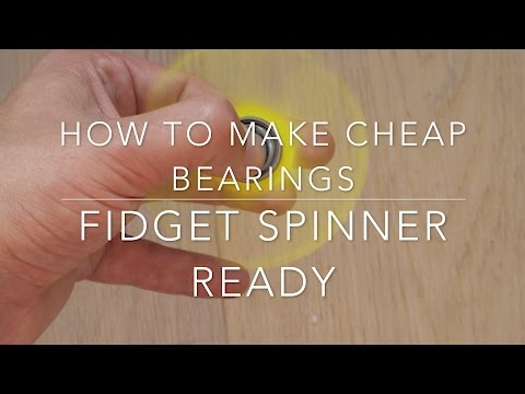 How to make cheap bearings spinner ready