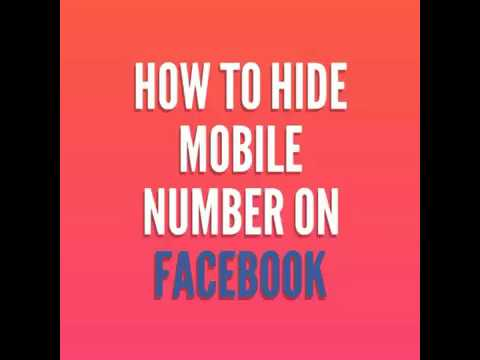 How To Hide Mobile Number On Facebook Profile /Account