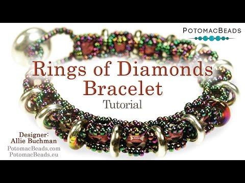 Make a Rings of Diamonds Bracelet