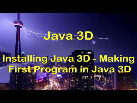 [HD] Java 3D Swing Tutorial  - Installing Java 3D & First 3D GUI Program