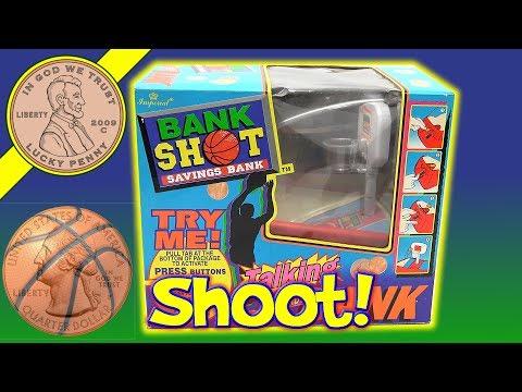 Bank Shot Saving Basketball Bank - He Shoots He Saves, Your Change!