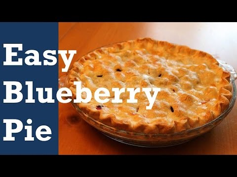 EASY BLUEBERRY PIE - with a CHEAT!