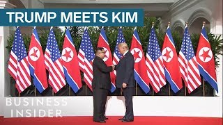 Trump And Kim Jong Un Shake Hands In Singapore