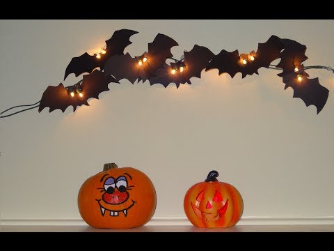 How to make scary bats : Halloween Craft