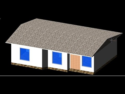 AutoCAD House Plan 2d and 3d Tutorial Beginner