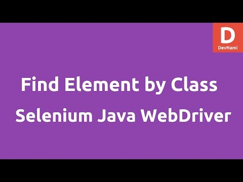 Find element by Class Name Selenium Java