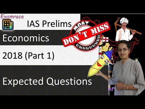 Expected Questions on Economics 2018 - UPSC IAS Prelims (Part 1)