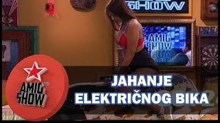 Zadrugarke jašu električnog bika (rodeo) (Ami G Show S11)