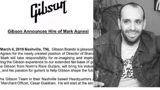 Gibson Hires Mark Agnesi   Norm's Rare Guitars Hiring New Guitar of the Day Host + General Manager