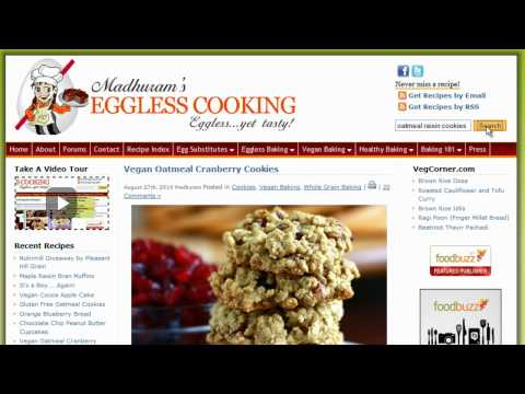 EgglessCooking.com Video Tour