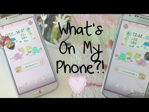 WHAT'S ON MY PHONE?! *Kawaii* Galaxy S4 | DIYDazzleNails