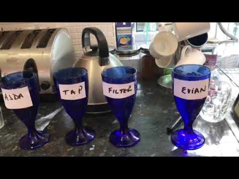 Water test PH, TDS . Tap water, filtered,  Evian and Local supermarket( Adas own )