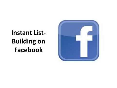 How to Build an Instant Email List Using Facebook