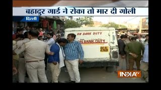 Armed robbers looted Rs 12 lakh cash from van after shooting guard in Delhi