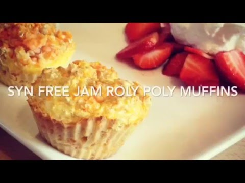 SYN FREE JAM ROLY POLY SLIMMING WORLD MUFFINS