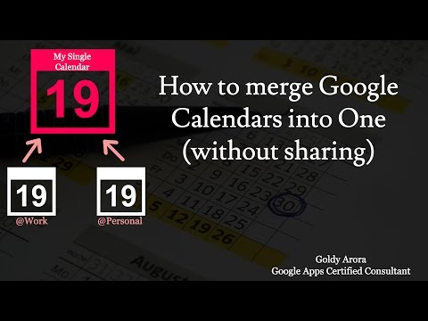 Merge Google Calendars - without sharing - with this cool trick
