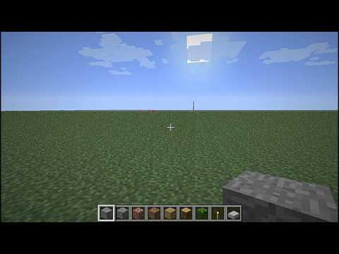 Minecraft super flat world spawn bug.