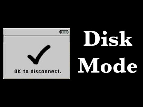 How to put an iPod into Disk Mode