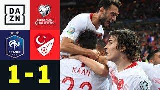 Türkei dank Ayhan Gruppenerster: Frankreich - Türkei 1:1 | EM-Quali | DAZN Highlights