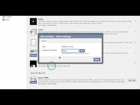 Change Facebook Tab Name of an application on your fan page