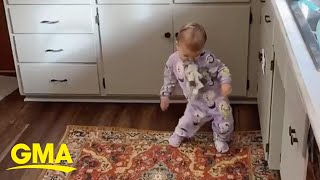 Mom's dancing baby videos are giving us life | GMA Digital