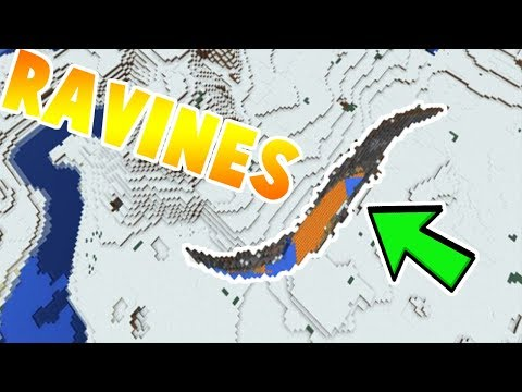 How to find RAVINES in MCPE 1.2!// Minecraft Pe Ravines Seed//
