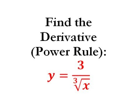 Power Rule of Derivatives (Calculus) - Worked Example #5