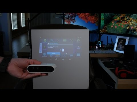 Ultra Portable Android-Powered Projector? Touchjet Pond Unboxing And Tests