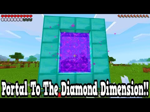 Minecraft Portal To The Diamond Dimension - Tutorial Pocket Edition Xbox Ps3 Ps4 Switch!!